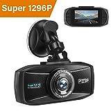 Dashcam Autokamera 1296p mit Nachtsicht PEBA Dash Camera Super HD Auto DVR Camcorder 2.7 Zoll LCD-Bildschirm WDR Bewegungserkennung Parkmonitor Loop-Aufnahme und G-Sensor
