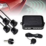 Hengda Einparkhilfe Auto Rückfahrhilfe mit Lautsprecher Parksensoren in Schwarz